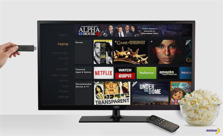 Телепалочка Amazon Fire TV Stick