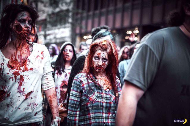 Парад зомби в Белграде