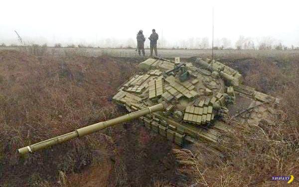 Украинские пограничники поймали танк