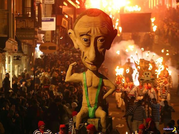 Путин стал звездой парада в Англии!