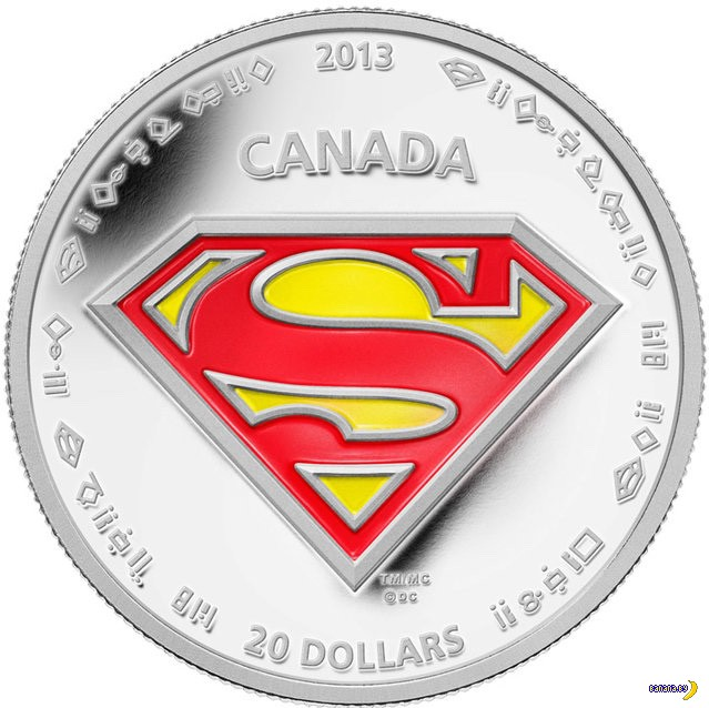 В Канаде чеканят доллары с Суперменом