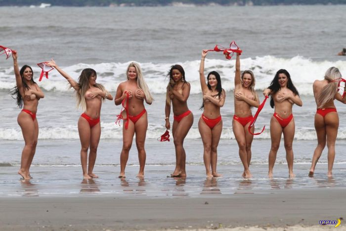 Девушки с Miss Butt Brazil 2014