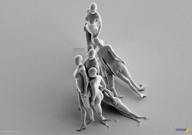 Скульптуры в несколько микрон высотой