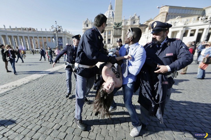 FEMEN выступали в Ватикане