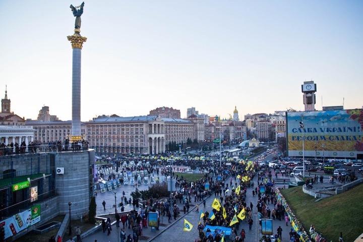 В Киеве отметили годовщину Евромайдана
