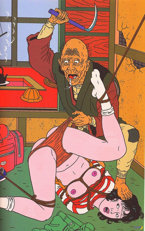 Рисует Тошио Саэки