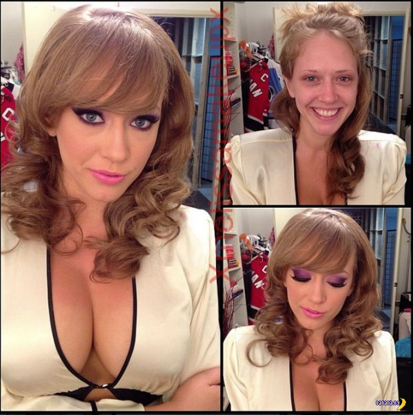 Порнозвезды с макияжем и без