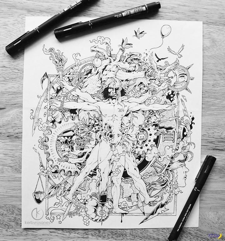 Рисует Керби Розанес