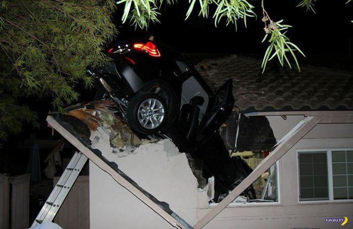Заехать в гараж другим способом