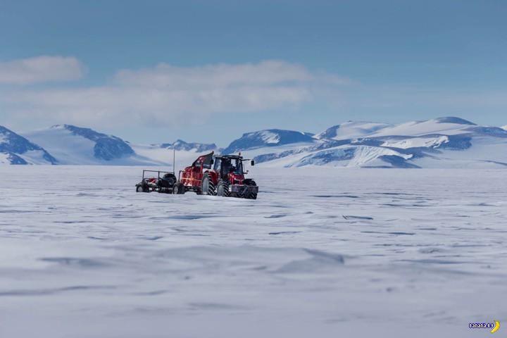 К Южному Полюсу на тракторе!