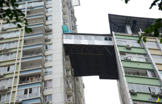 """Китайские умельцы сделали """"балкон"""""""