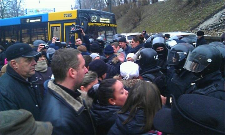 В Киеве начался транспортный Майдан