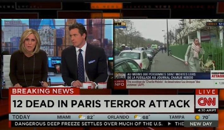 Исламисты расстреляли журналистов в Париже