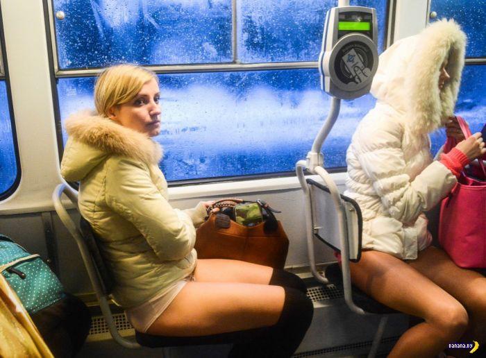 Голые девушки в трамваях автобусах 126