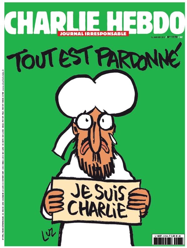 "Обложка свежего номера ""Charlie Hebdo"""