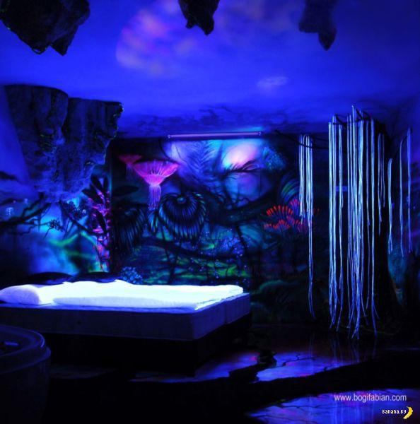 Комнаты преображаются в темноте