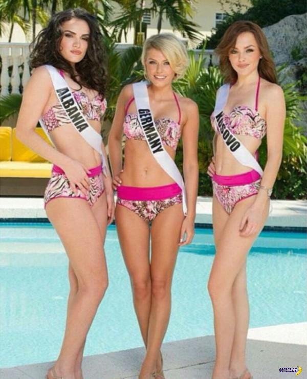 Девушки с Мисс Вселенная 2015 в бикини
