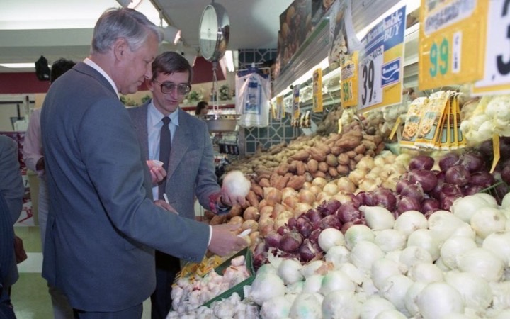 Как Ельцин впервые в жизни в американский супермаркет сходил