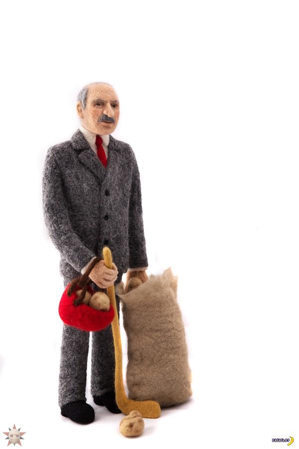 Лукашенко из валяной шерсти