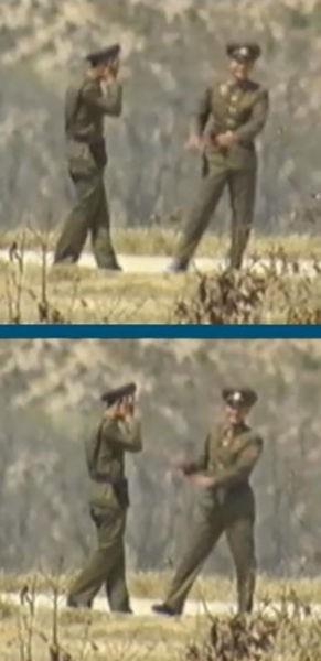Секретик двух солдатиков