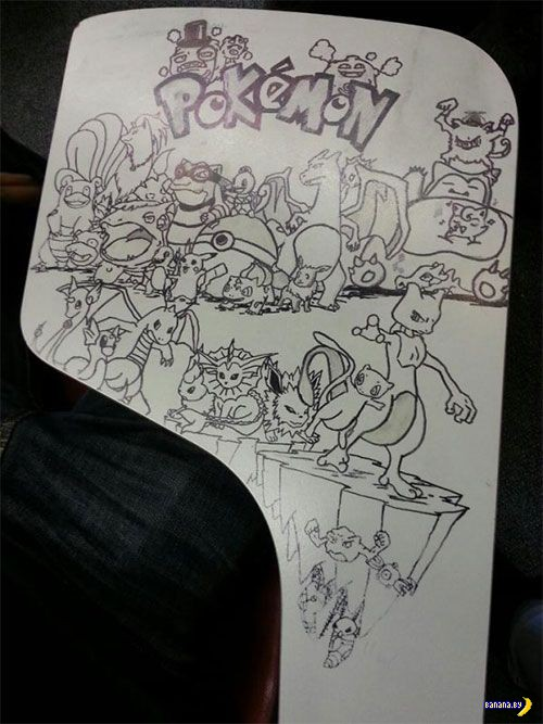 Рисунки на партах