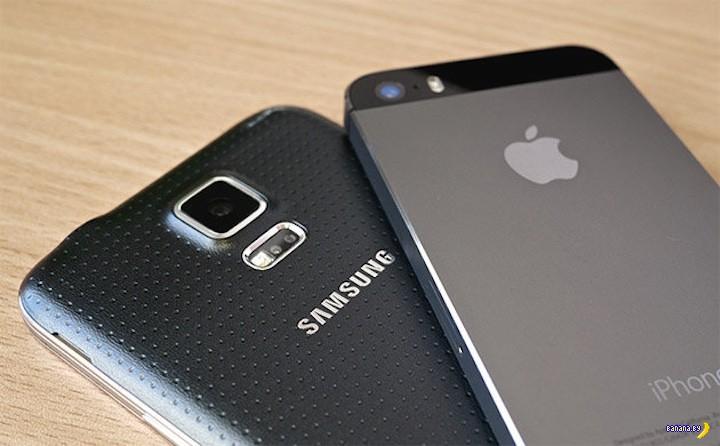Apple догнал Samsung по отгрузкам смартфонов