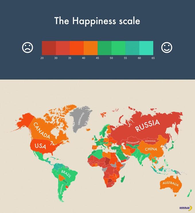 Как обстоят дела со счастьем в мире?