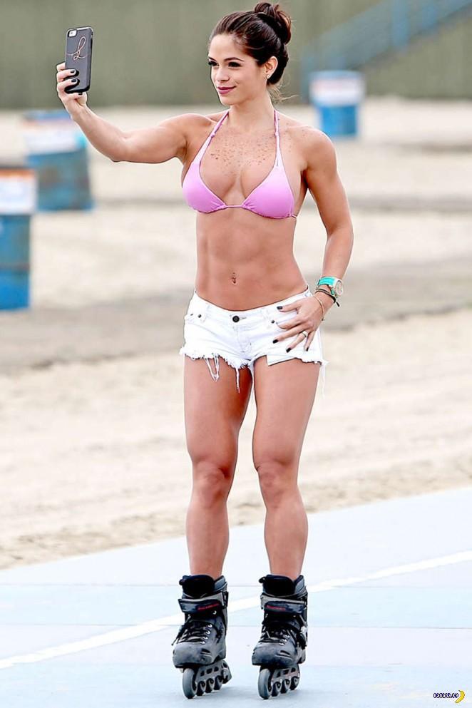 Мишель Левин наращивает мышцы