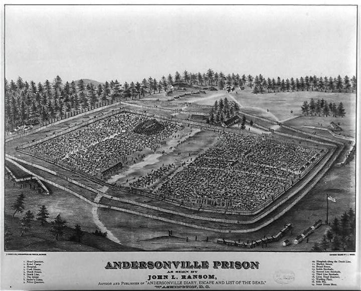 Андерсонвилль - первый концентрационный лагерь.