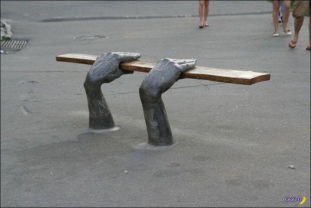 Произведения скамеечного искусства