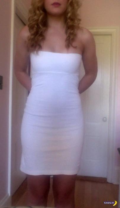 Женское платье из мужской водолазки