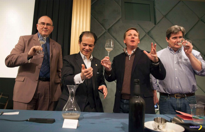 Откупорили бутылочку 151-летнего вина