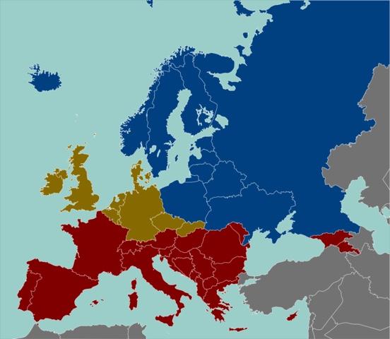 Алкогольная карта Европы