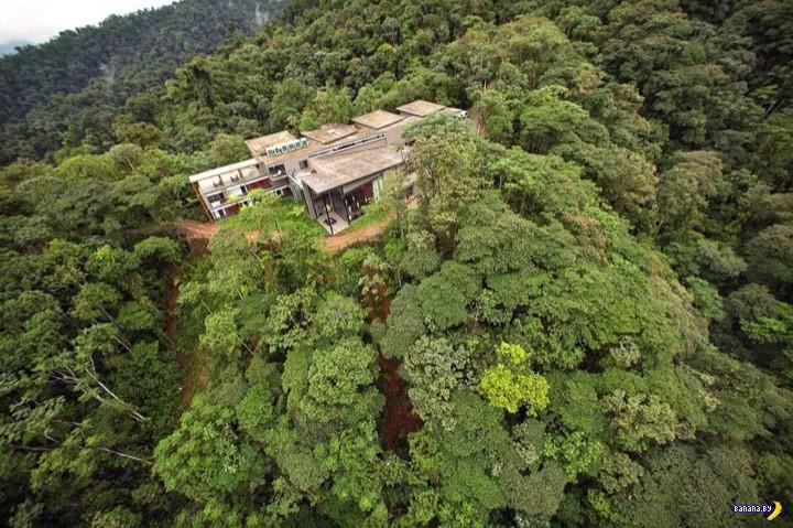 Аттракцион Sky Bike в джунглях Эквадора