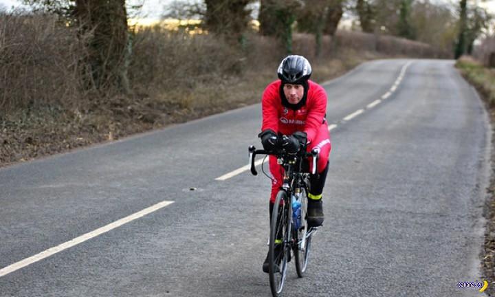 Велосипедист собрался поставить рекорд