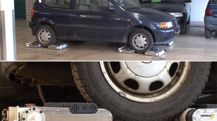 Мини-роботы могут утащить машину!