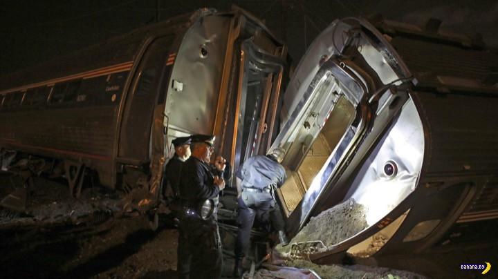 Крушение поезда Amtrak в Филадельфии