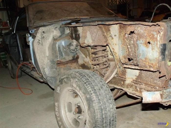 1969 Ford Mustang: от кучи ржавого мусора до тачки