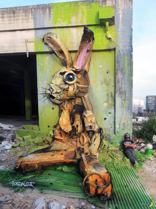 Граффити по мусору