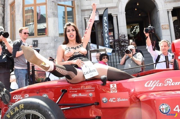FEMEN против секс-рабства в Канаде