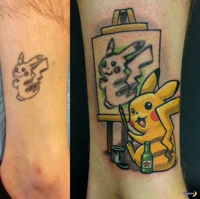 Гениальный способ исправить убогую татуировку