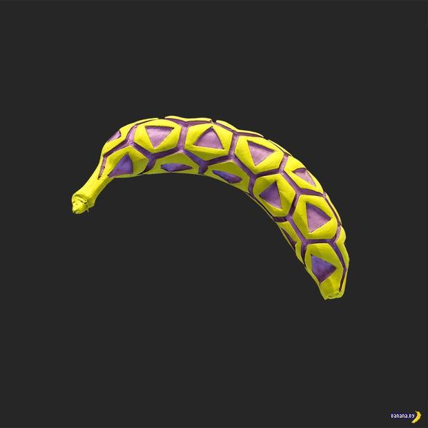 Теперь еще и резьба по раскрашенным бананам!