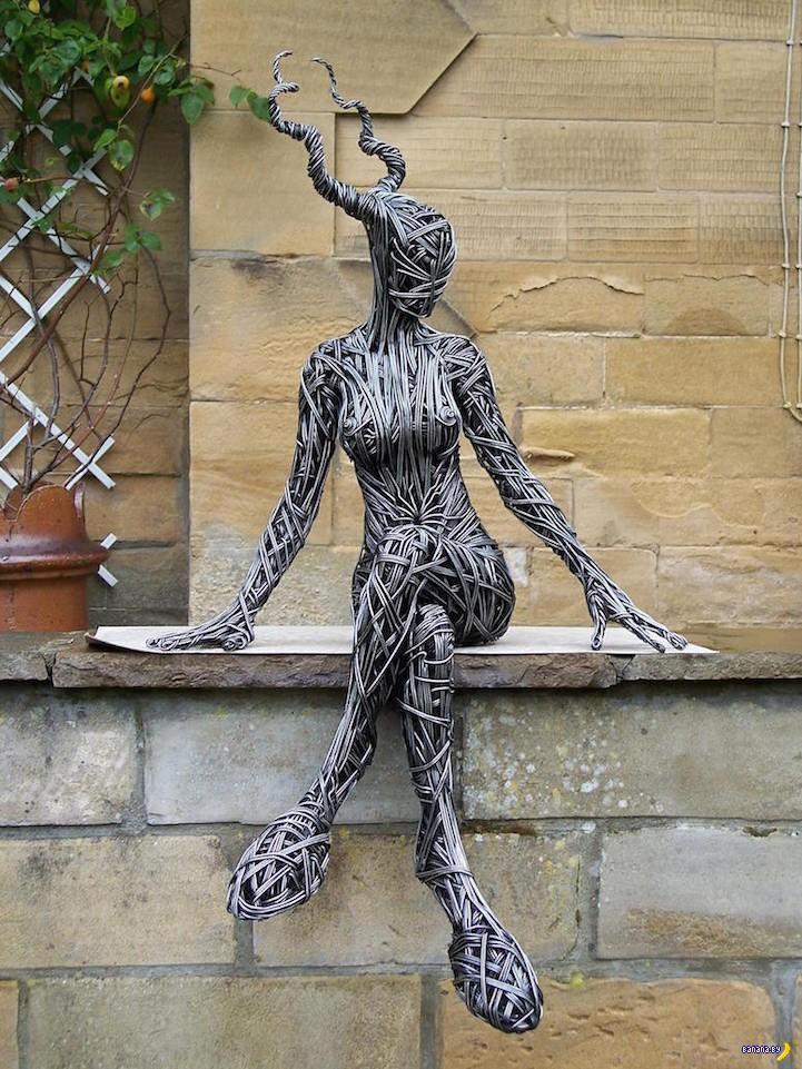 Удивительные скульптуры из проволоки