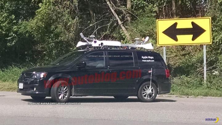 В США замечены фургоны Apple Maps