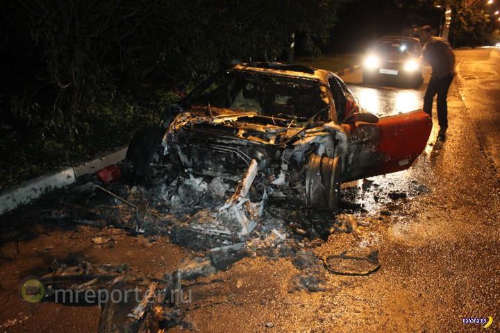 В Москве сожгли Ferrari F430