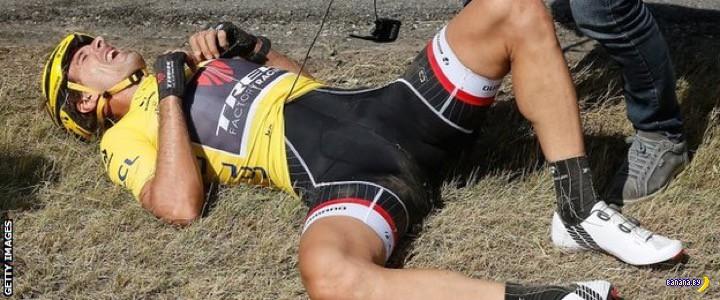 Массовый замес на Tour De France