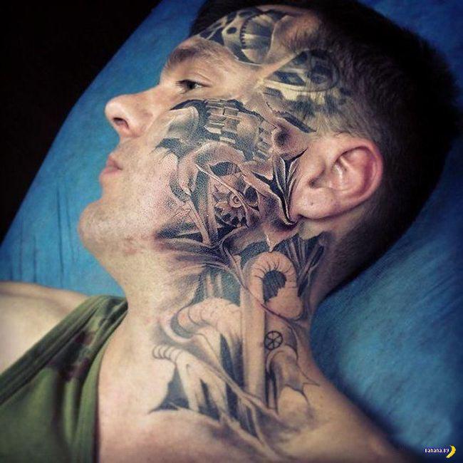 Оцените татуировку у парнишки