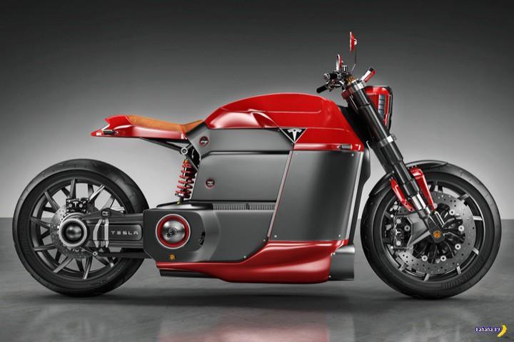 Нафантазировали мотоцикл Tesla M