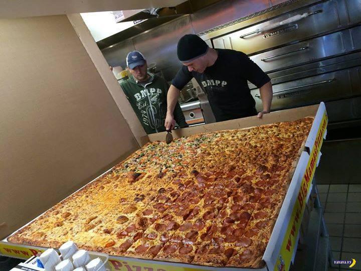 Большая жратва: 2 квадратных метра пиццы
