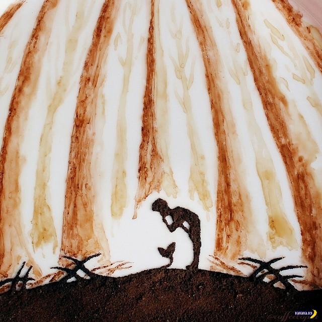 Рисунки утренним кофе